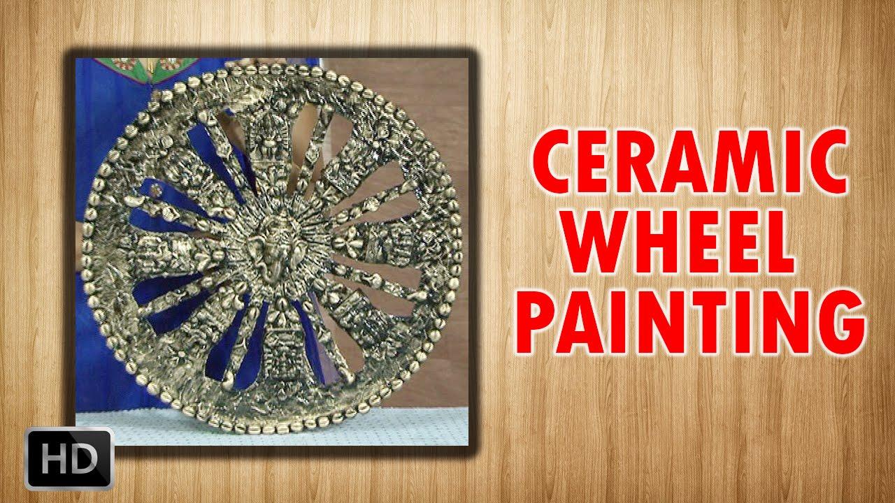 Learn ceramic wheel painting ceramic art beginners for Ceramic mural making