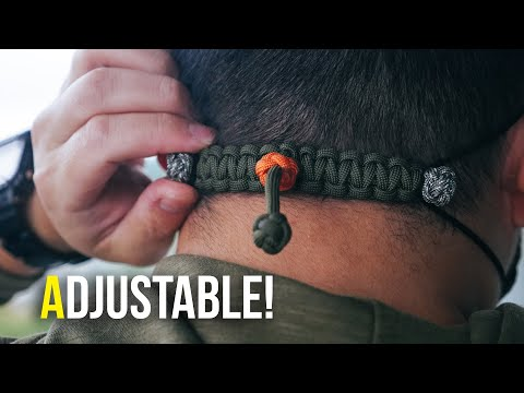 😷 One Size Fits All! ADJUSTABLE Paracord Mask Ear Saver TUTORIAL