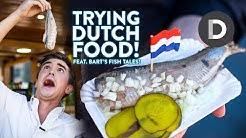 DUTCH FOOD TOUR! Trying Dutch Street Food!