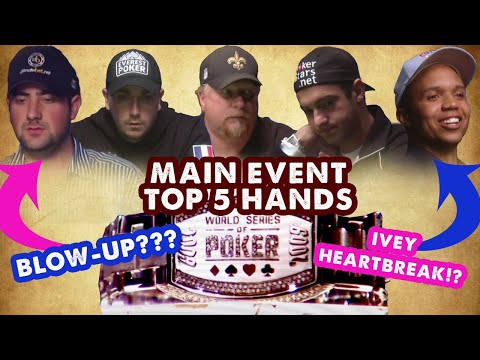 2009 WSOP Main Event - Top 5 Hands | World Series Of Poker