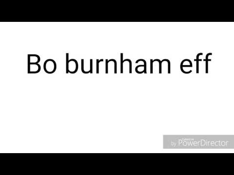 Bo Burnham eff ( Lyrics)