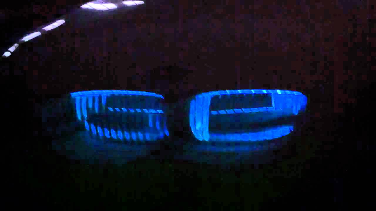 BMW 335i Kidney Grille LED Lights - YouTube