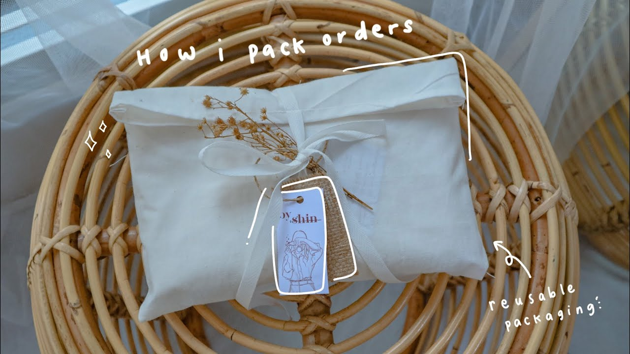 Pack Orders for My shop, Handmade Reusable Packaging | Small Business Journey | Life as a homebody