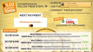 Free 0.02 BTC Giveaway EVERY 10 MINUTES ! (Worldwide)