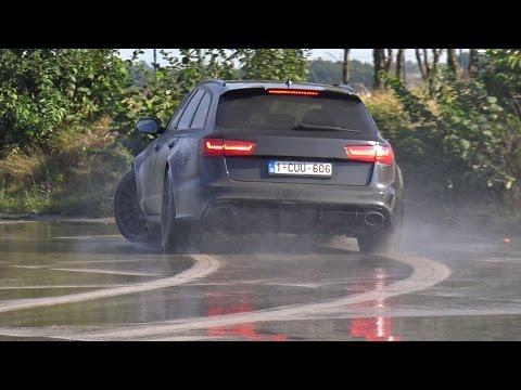 Audi RS6 Avant C7 Trying To Drift!