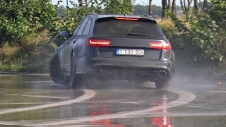 Audi RS6 Avant C7 Trying To Drift!