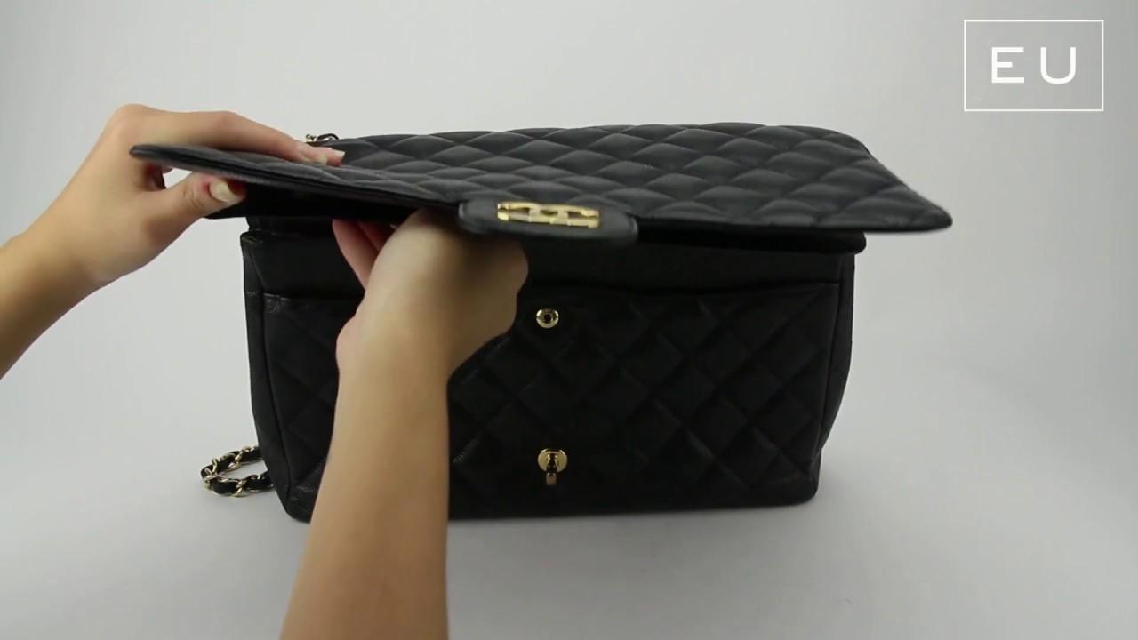 591057417 Bolsa Chanel Double Flap Preta | Etiqueta Única - YouTube