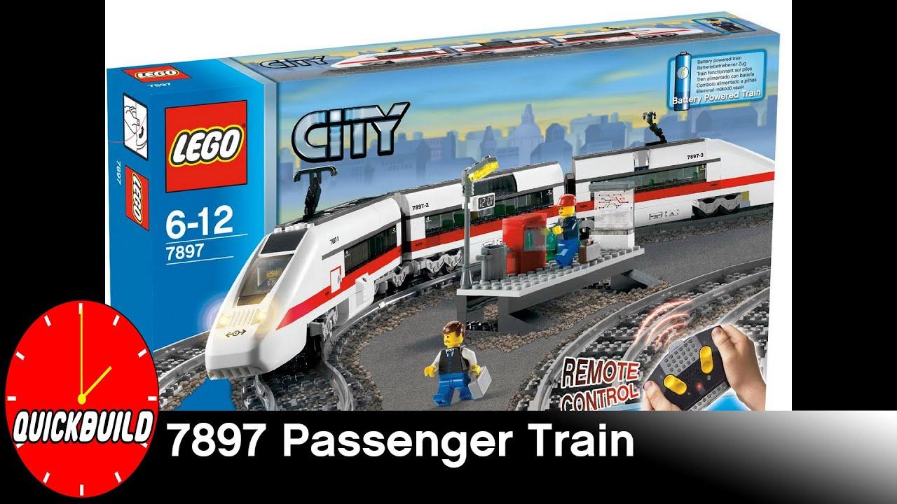 Quick Build 38 Lego City Trains 7897 Passenger Train Time Lapse