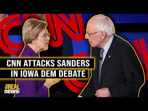 CNN Attacks Sanders in Iowa Dem Debate