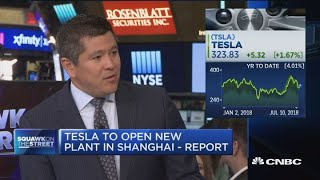 Tesla shares pop on reports automaker plans to build factory in China