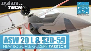 ASW 20 L 1:3,5 & SZD-59 1:4 PARITECH NEW RC GLIDERS FULL-SCALE OLDGLIDERS INTERVIEW UWE RIHM