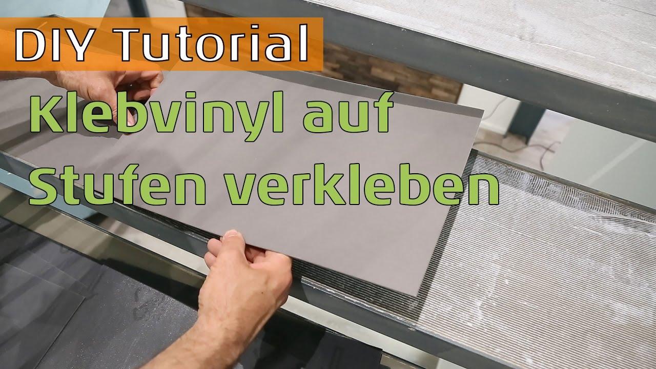 Vinylboden auf Stahltreppe mit Betonstufen kleben - YouTube