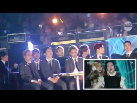 161226 EXO & BTS Watching TO BLACKPINK @Fancam SBS GAYO DAEJUN