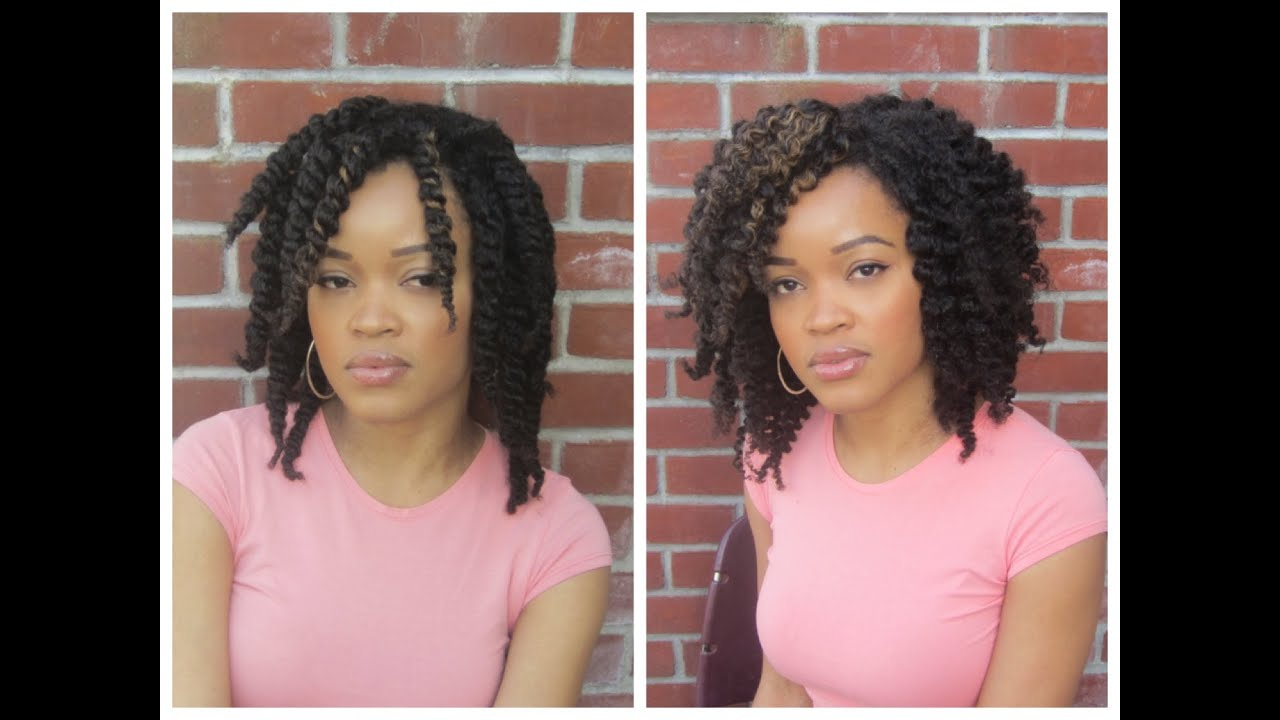 Defined Twist Out On My Kinky Curly Hair Youtube