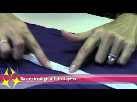 How To Sew A Zipper In The Back Of A Dress.