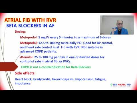 ACUTE ATRIAL FIB WITH RVR MANAGEMENT For ABIM/USMLE BY NIK NIKAM MD MHA