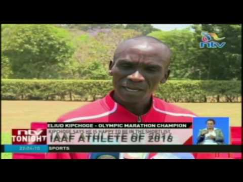 IAAF Athlete of 2016: Kipchoge says he is happy to be in the shortlist