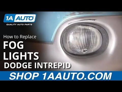 How To Replace Fog Light and Bulb 93-97 Dodge Intrepid