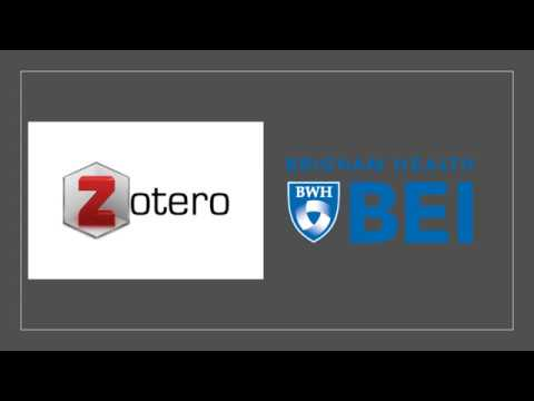 "Medical Library ""How To"" Series: How to use Zotero on YouTube"