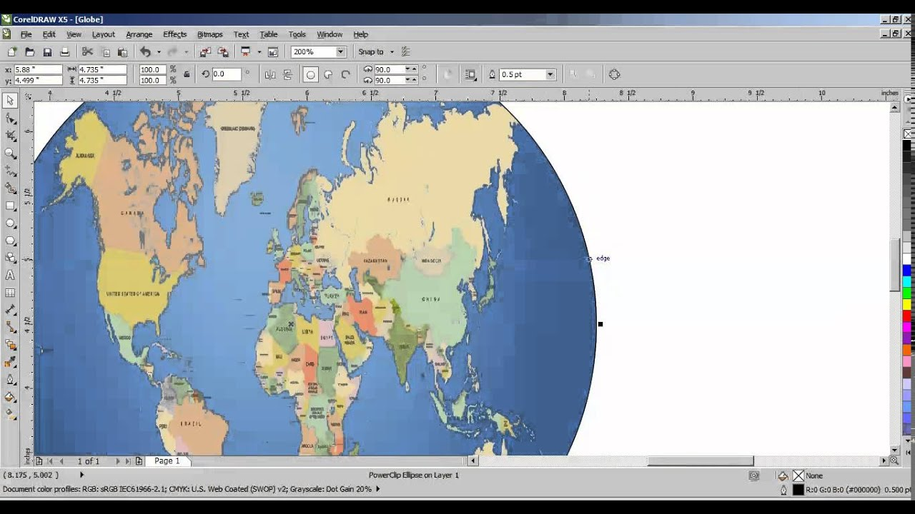 How to convert world map into globe in coreldraw tamil youtube how to convert world map into globe in coreldraw tamil gumiabroncs