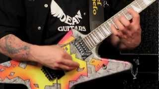 DEAN GUITARS® Guitarra Eléctrica DIMEBAG ML Concrete Sledge Limited Edition con Case video