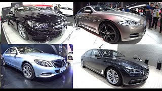 2016, 2017 Mercedes S-Class, BMW 7 series, Jaguar XJ L comparison model