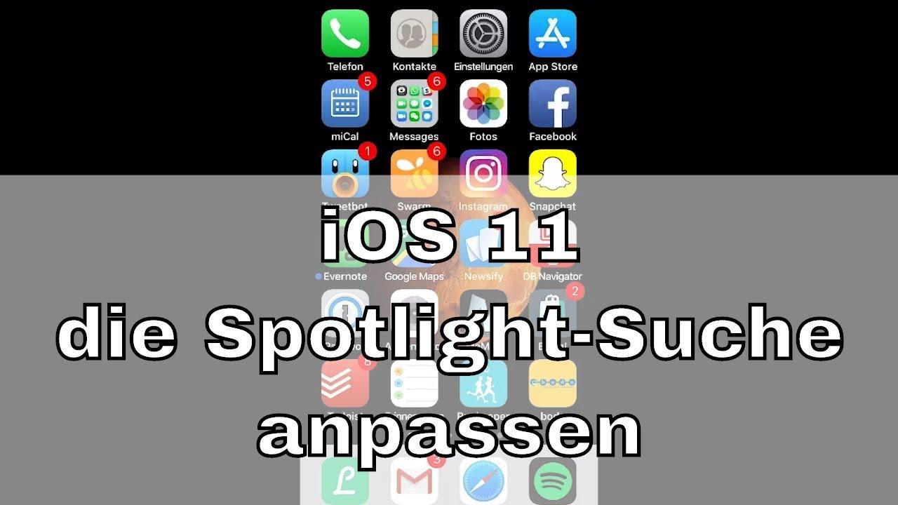 iOS 11 - Spotlight-Suche anpassen, wenn Apps nicht gefunden werden