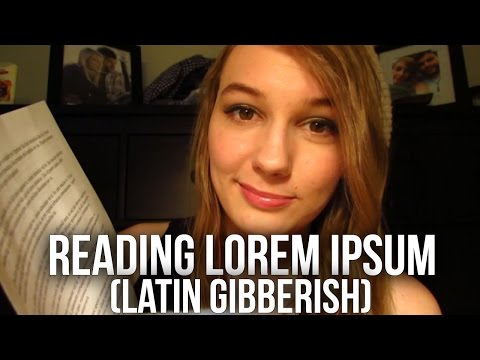 [BINAURAL ASMR] Reading Lorem Ipsum! (Latin gibberish, ear to ear whispering)