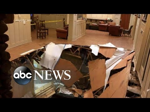 Dozens of people are recovering after an apartment floor collapsed in South Carolina