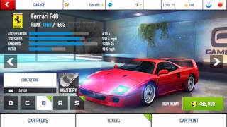 Asphalt 8 Airborne car list(4/9/16)