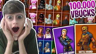 Kid buys 100,000 vBucks For Items In Fortnite Battle Royale... (Fortnite Richest Locker/ Rare Skins)