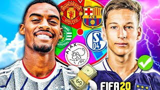 YOUTH ACADEMY SPIN THE WHEEL REBUILD CHALLENGE!! FIFA 20 Career Mode
