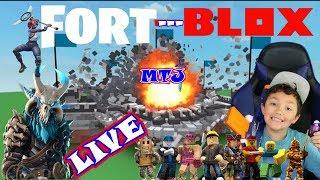 ROBLOX LIVE VIP Server Destruction Simulator with Fans KID GAMER MinetheJ and Fortnite Battle Royale