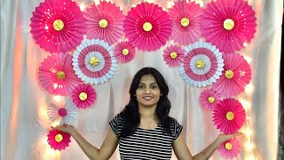 VERY EASY PAPER FAN BIRTHDAY DECORATION | EASY BIRTHDAY DECORATION IDEAS AT HOME | PAPER CRAFT DECOR