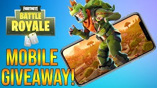 Fortnite Mobile Code Giveaway!! (FREE Fortnite Battle Royale Mobile Download)