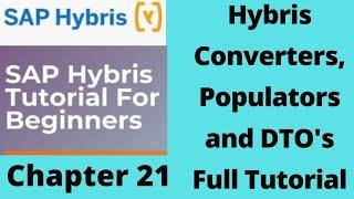 hybris converters and populators | converter and populator |sap hybris tutorial for beginners|Part21