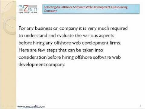 Selecting Offshore Software Web Development Outsourcing Company