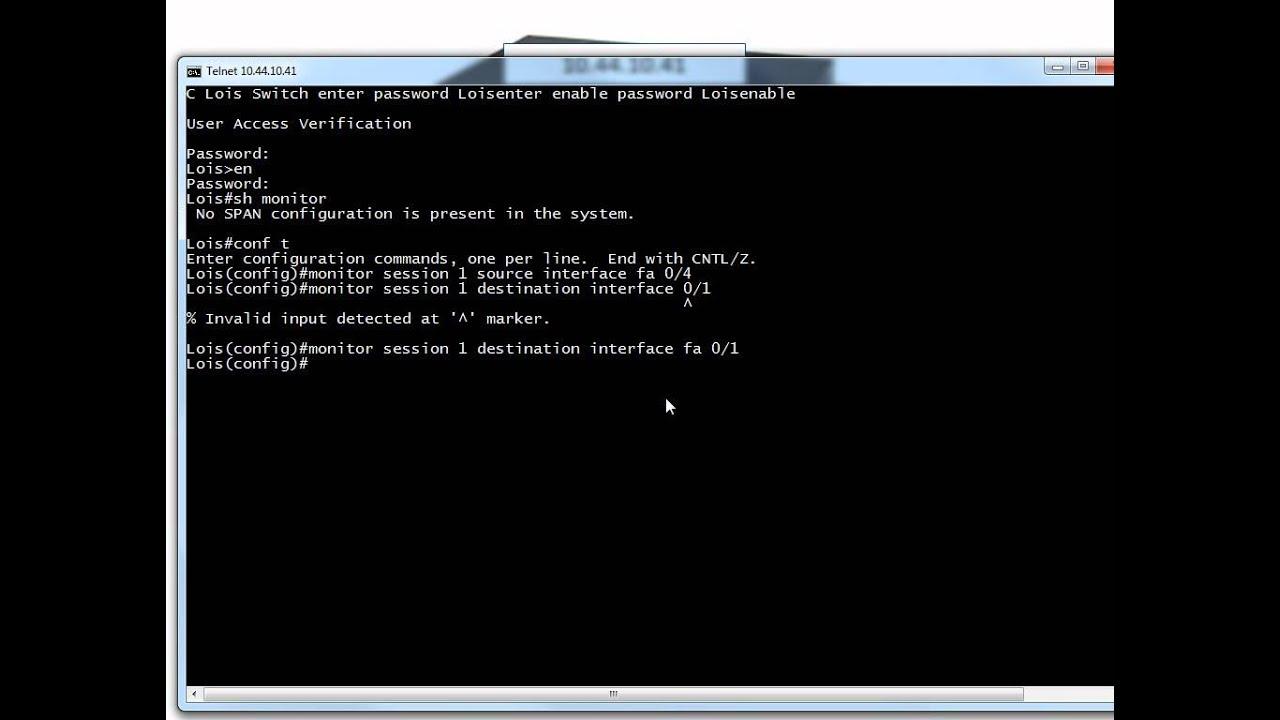 Using Wireshark and Cisco Port Mirroring  YouTube