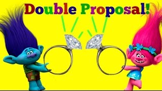 Trolls movie branch and poppy surprise propose marriage to each other!