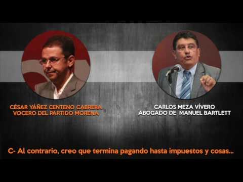 César Yáñez, vocero de AMLO intenta negociar la liberación de su novia con el gobierno de Puebla.