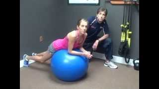 3 Scapular Stabilization Exercises on a Stability Ball with Dr. Jeff Larkin