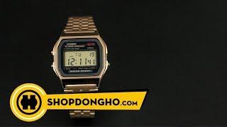Review Đồng hồ | CASIO A159WGEA-1DF | SHOPDONGHO.com