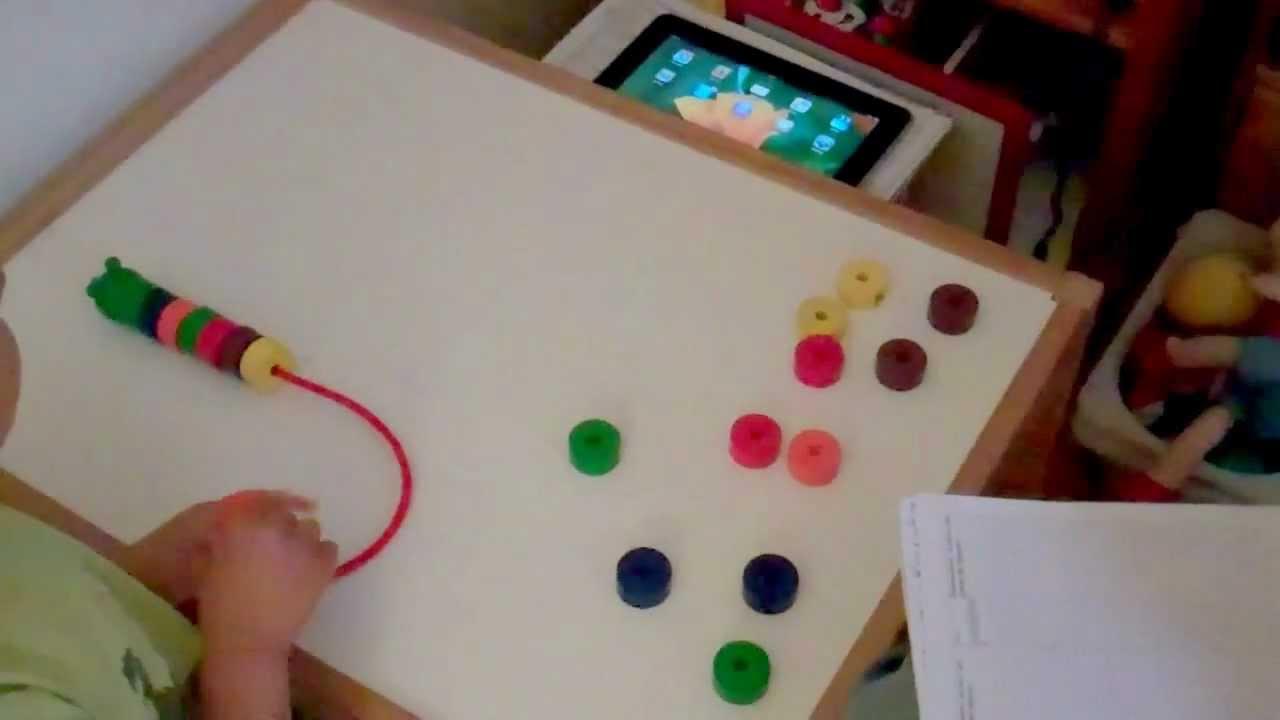 Fabulous Autisme Les couleurs et motricité fine (enfiler) - YouTube VT67
