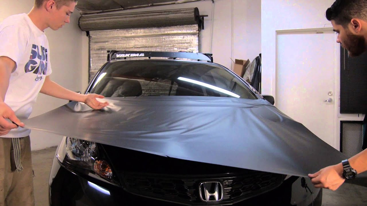 How To Vinyl Wrap Hood Premium Auto Styling Youtube