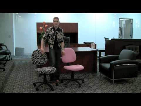 Boss Zebra and Pink Microfiber Chairs