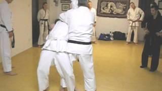 Tom Hill's Karate Dojo; Goju Kata Bunkai; Shisochin various moves