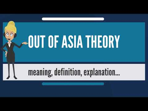 What is OUT OF ASIA THEORY? What does OUT OF ASIA THEORY mean? OUT OF ASIA THEORY meaning