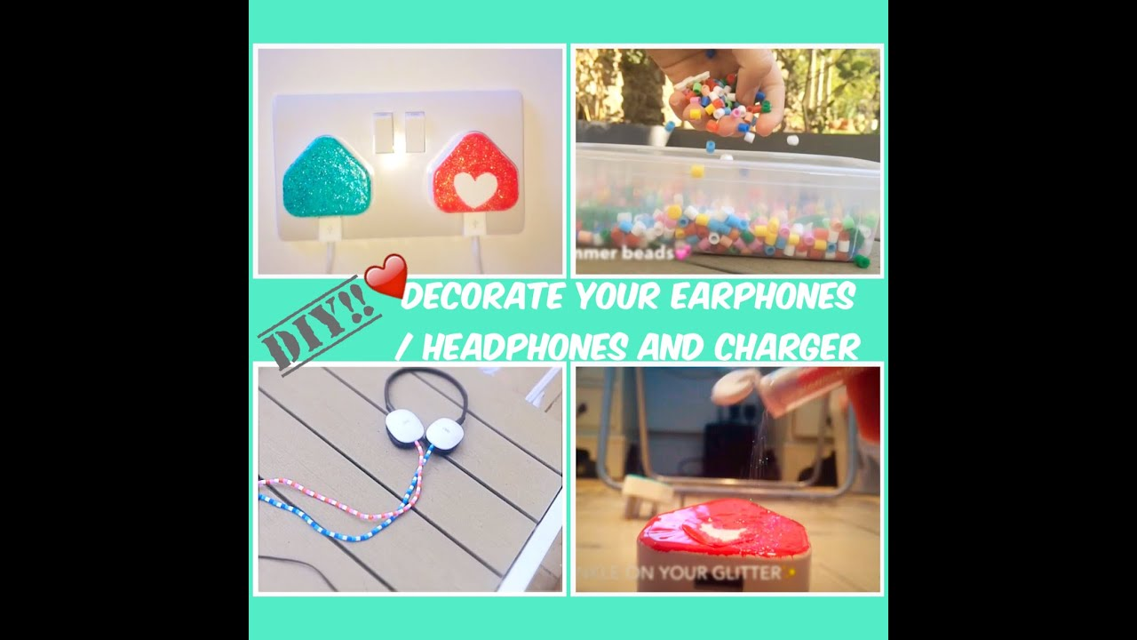Diy Decorate Your Earphones And Charger Isobel Violet