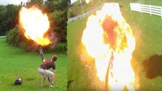 experiment insane potato gun explosion backfires gone wrong