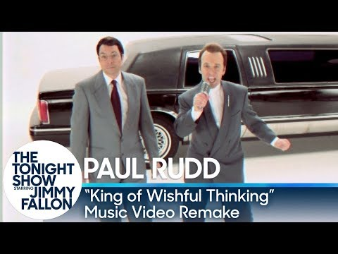 "Jimmy and Paul Rudd do a shot-for-shot remake of the classic 1990 video for British pop duo Go West's ""King of Wishful Thinking"" from the Pretty Woman soundtrack."